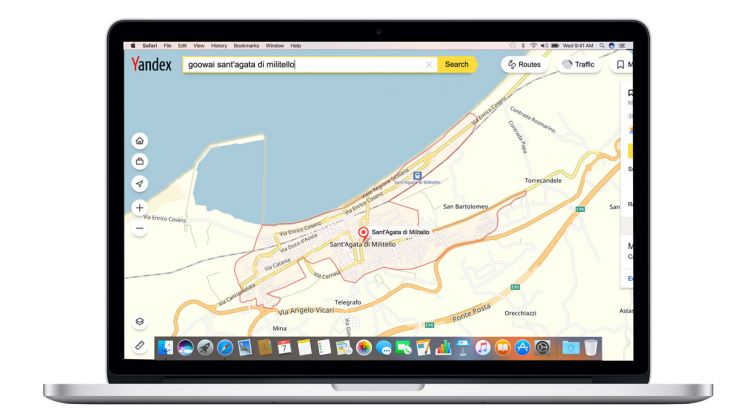 yandex maps in goowai